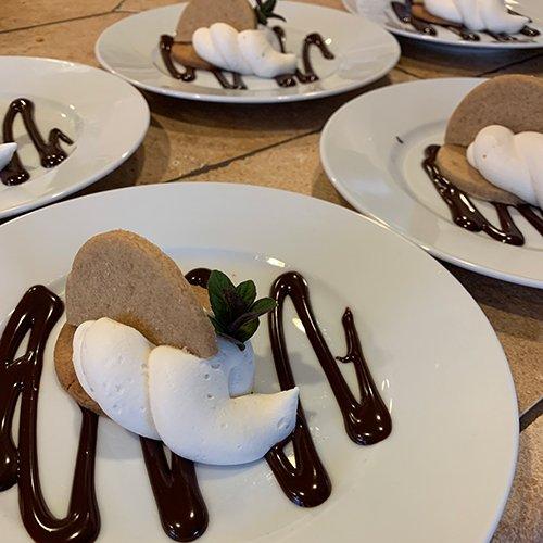 Graham Shortbread Ganache Dessert